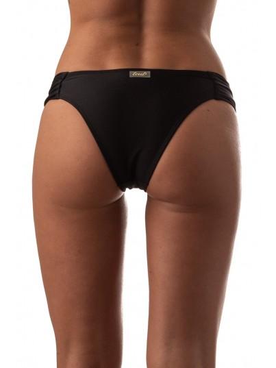 Bikini costado drapeado Negro